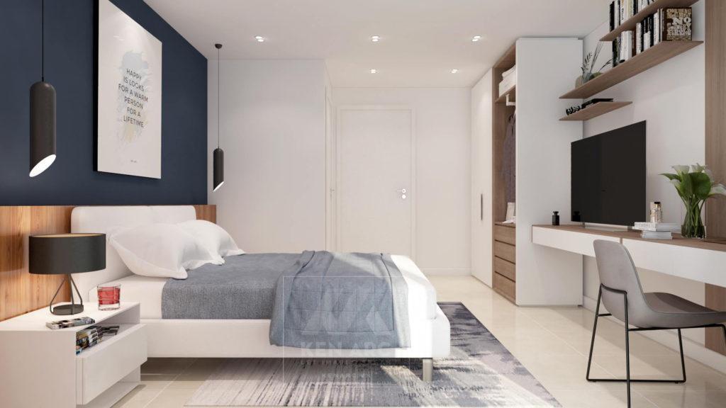 Vẽ phối cảnh 3D nội thất phòng ngủ