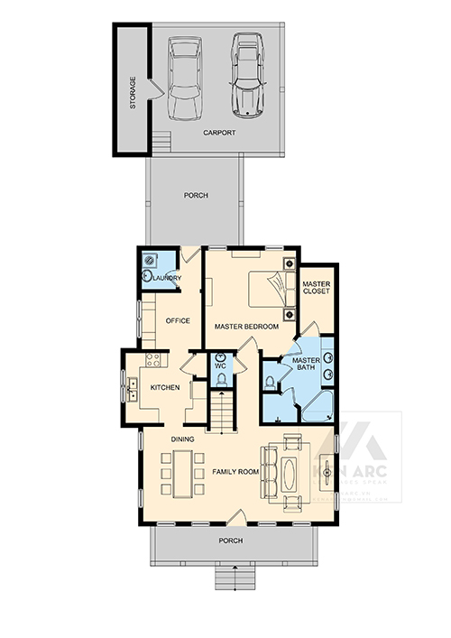 kenarc vẽ mặt bằng 2D floor plan